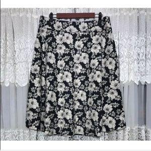 GAP floral a-line skirt